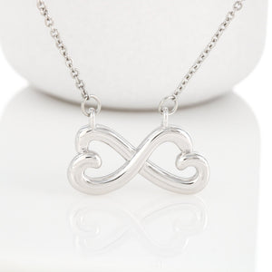 Gifts For Mom Infinity Heart Necklace With Adorable I Love You Message Card