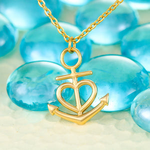 "Beautiful Anchor Heart Necklace With Son To Mom ""You Are The Best"" Message Card"