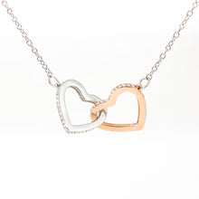 "Interlocking Heart Necklace With ""Remembrance Piece"" Message Card"