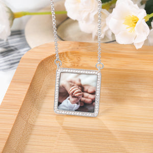 cz photo necklace