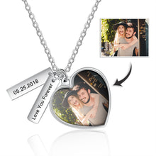 custom heart photo necklace