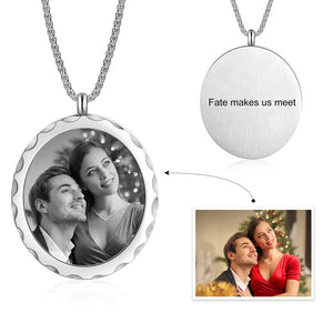 Oval Shape Stainless Steel Custom Photo Necklace