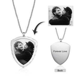 Brand New Shield Custom Photo Pendant Necklace