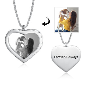 New Custom Photo Pendant Heart Necklace