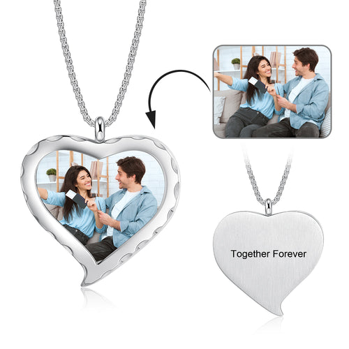 Unique Custom Photo Pendant Heart Necklace