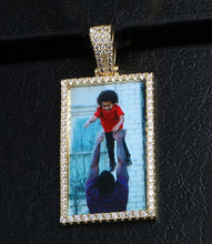 18K Gold Plated Custom Square Photo Pendant Necklace