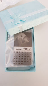 Personalized Calendar Keychain With Picture For Anniversary / Wedding / Engagement / Couple Gift