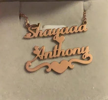 Personalized Couple Name Necklaces With Heart