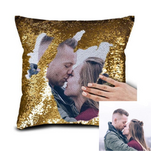 Custom Photo Reversible Flip Sequin / Mermaid Pillow