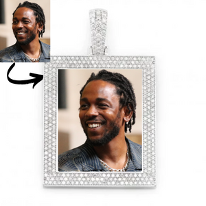 Custom Photo Memory Square Medallions Pendant Necklace