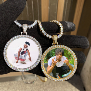 Personalized Photo Medallion Necklace For Men And Women