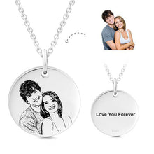 18K Gold Plated Personalized Photo Necklace- Personalize Necklace With Photo And Text