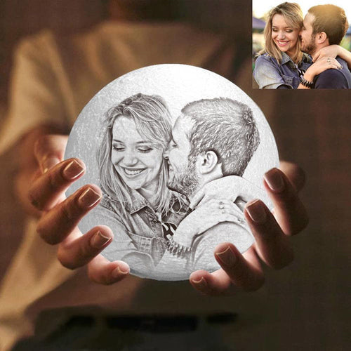 Photo Moon Lamp, Custom 3D Photo Light, Lamp Moon -FCC Certified Valentine's Day Gift