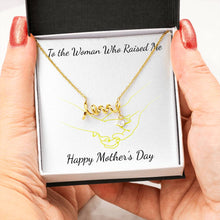Beautiful Stone Love Scripted Necklace Mothers Day Gift With Mother's Day Wish Card