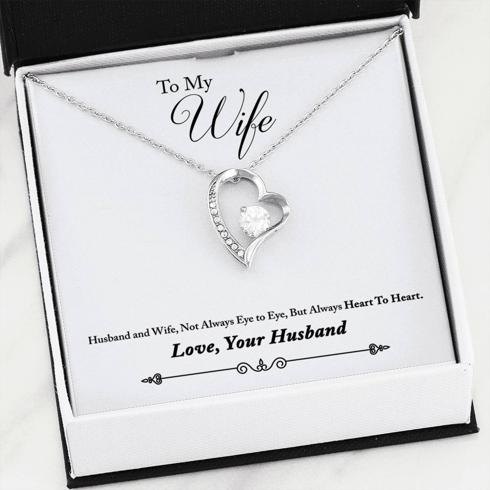 Beautiful LOVE Forever Heart Necklace With Husband To Wife Romantic