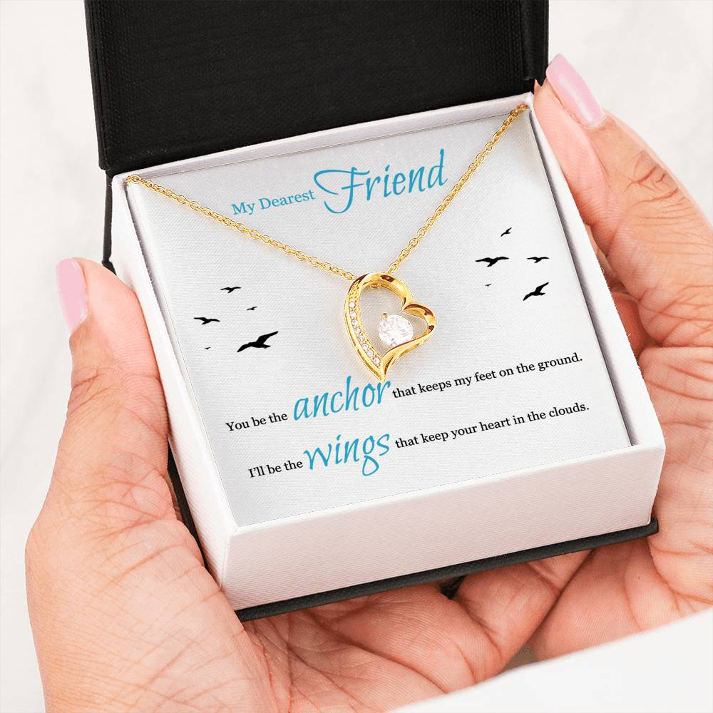 Gifts For Friend Heart Stone Necklace With Message Card For Dearest Friend
