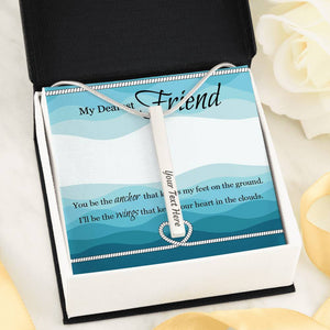Custom Vertical Bar Necklace With Message Card -Gifts For Friend
