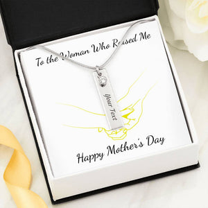 Birth Stone Name Necklace With Mother's Day Gift Wish Card