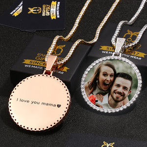 Custom Photo Medallions Necklace For Christmas- Best Christmas Gifts For Couple