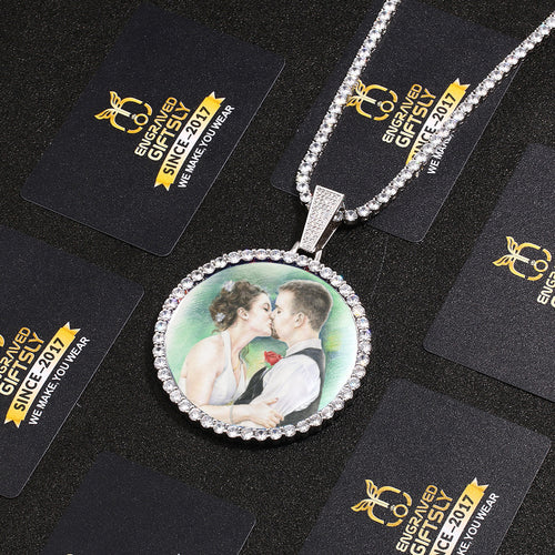 Custom Photo Medallions Necklace For Christmas- Best Gifts For Boyfriend