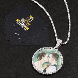 Custom Photo Medallion Necklace- Plating Of Gold Medallion Necklace Christmas Gifts For Boyfriend