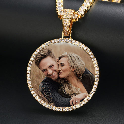 Custom Photo Medallion Necklace- Best Christmas Gifts For Couple