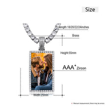 Custom Made Square Photo Medallion Necklaces Christmas Gifts For Girlfriend