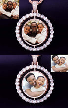 Custom Photo Rotating Double-Sided Medallions Pendant Necklace Christmas Gifts For Dad