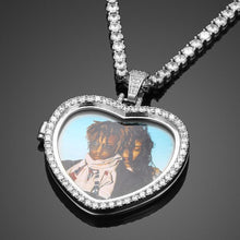 Custom Heart Photo Medallions Necklace Christmas Gifts For Dad