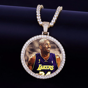 Kobe Bryant Custom Made Photo Medallions Necklace