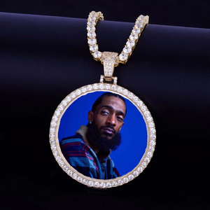 "Custom ""Nipsey Hussle"" Memorial Picture Pendant"
