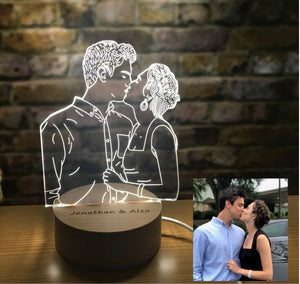 Custom 3D Crystal Photo Night Lamp- Custom Crystal Lamp Photo Gift