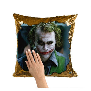 Custom Photo Color Printed Cushion Cover - Limited Edition Sequin Pillow