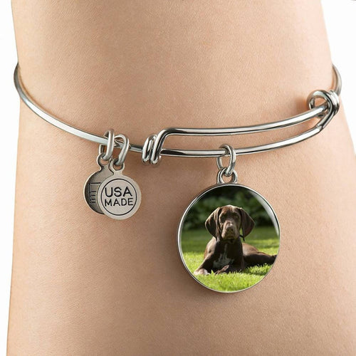 Custom Dog Photo Bangle Bracelet - 3 to 5 Days Delivery All Over The USA