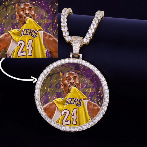 Lakers Kobe Bryant Custom Made Photo Medallions Necklace