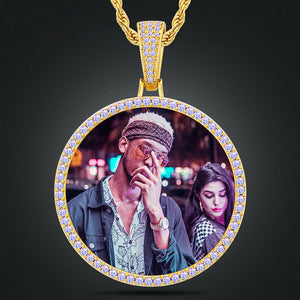 Custom Photo Medallion Necklace For Men And Women With Nano CZ Stone
