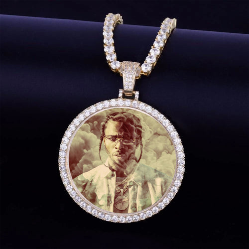 POP SMOKE RIP Custom Photo Medallion Necklace For Men- Best Gifts For Christmas 2020