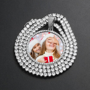 Custom Photo Medallion Necklace- Best Christmas Gifts For Mom