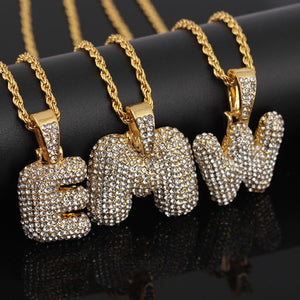 Letters Pendant Necklace in Hip Hop Style
