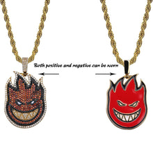 HIP-HOP ICED OUT SPITFIRE FLAME PENDANT