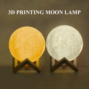 Photo Moon Lamp, Custom 3D Photo Light, For Mom -FCC Certified