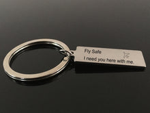 Fly Safe Airplane Keychain For Women Men