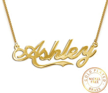 Personalized  Name Necklace - Gold Plated