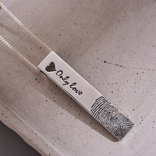 Genuine 925 Sterling Silver Fingerprint Pendant without Chain