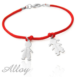 Engraved Kids Charms Bracelet For Mom