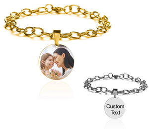 Customized Photo Bracelet With Engraving Text