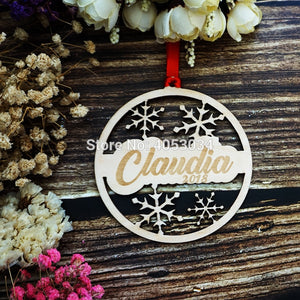 Personalized Engraved Wooden Christmas Ornament