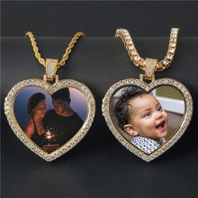 Custom Heart Photo Medallions Necklace Christmas Gifts 2020