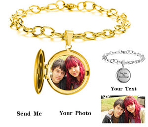 Personalized Photo Bracelet with Engraving Text