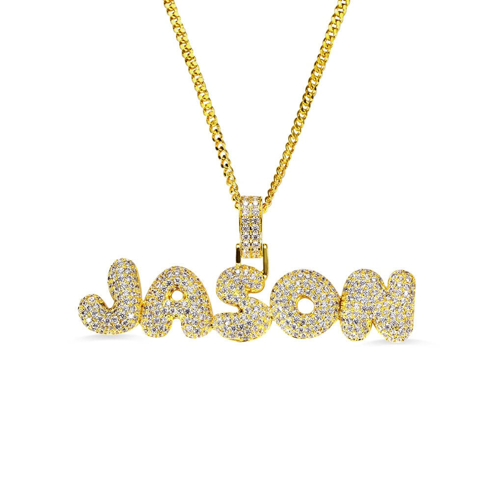 Custom Name Necklace Hip Hop Style